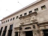BCP. Banco en diseño arquitectónico antiguo.