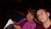 Aquí, con mi madre. La amo.